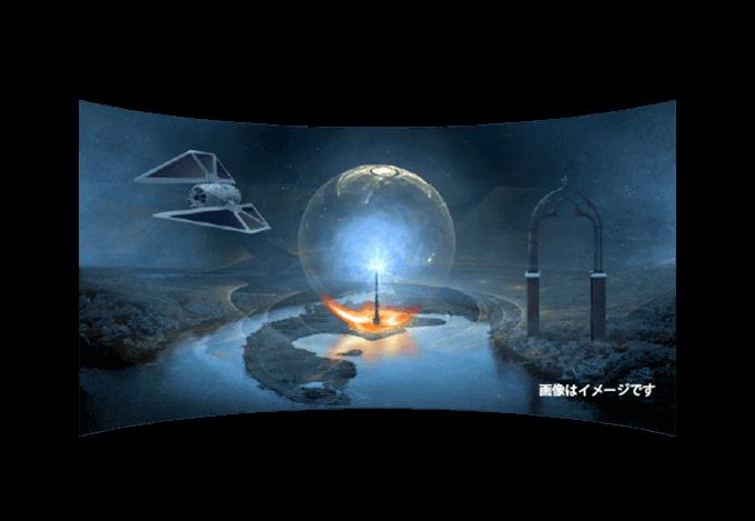 4D-VR対応デバイスにて使用できるゲームのイメージ